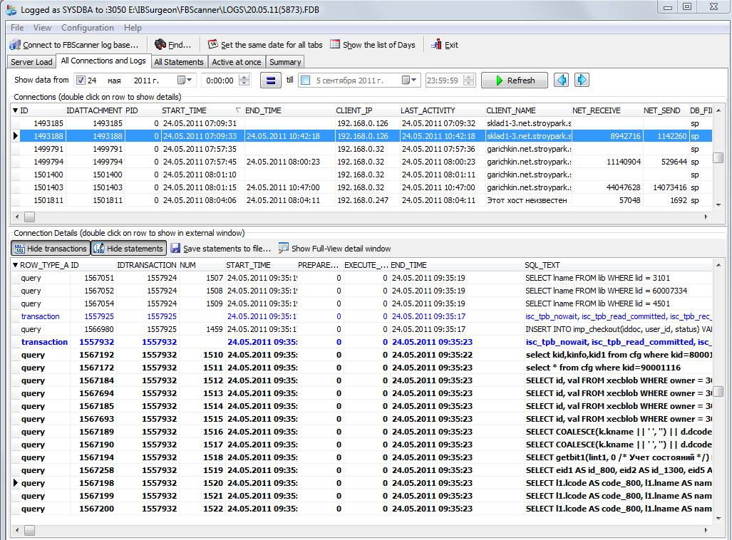 FBScanner Log Analyzer